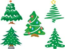 CHRISTMAS TREE. Abstract christmas tree on white background Royalty Free Stock Images
