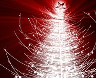 Christmas tree. Festive christmas tree seasonl holiday abstract illustration Royalty Free Stock Images