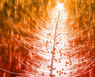 Christmas tree. Festive christmas tree seasonl holiday abstract illustration Royalty Free Stock Images