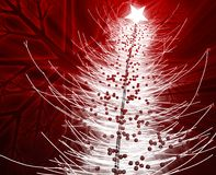 Christmas tree. Festive christmas tree seasonl holiday abstract illustration Royalty Free Stock Photos