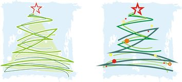 Christmas Tree. Illustration and Painting vector illustration
