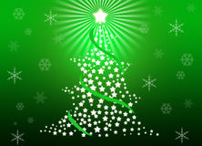 Christmas tree. Whit green gradient background Stock Photography