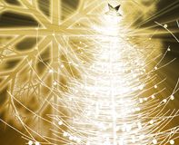 Christmas tree. Festive christmas tree seasonl holiday abstract illustration Royalty Free Stock Image