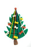Christmas tree. Plasticine Christmas tree isolated on white royalty free stock image