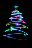 Christmas tree. Light color painting royalty free illustration
