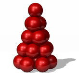 Christmas tree. Christmas red ball tree vector illustration