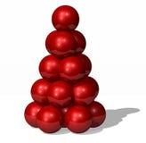 Christmas tree. Christmas red ball tree stock photos