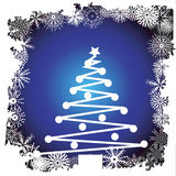 Christmas tree. And snowflake border - additional ai and eps format available on request Royalty Free Stock Photography