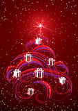 Christmas tree abstract Stock Image