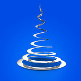 Christmas tree abstract. Abstract Christmas tree isolated on blue background Stock Images