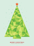 Christmas tree abstract Stock Image