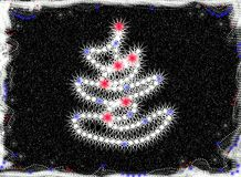 Christmas tree abstract Stock Photography