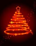 Christmas tree abstract Stock Photography