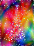 Christmas tree on abstract background Stock Photo