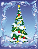Christmas tree on abstract background Stock Images
