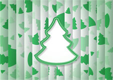 Abstract Background Christmas Tree Shape. Abstract Nackground With One Big Green Christmas Tree Shape And Lot of Small Trees on Background.Included EPS10 format Royalty Free Stock Images