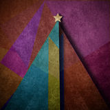 Christmas tree abstract  background  greeting card. Christmas tree abstract art background  greeting card ,triangle layout design, paper parchment modern Stock Photography