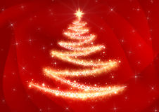 Christmas Tree Abstract Background Stock Image