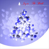 Christmas Tree. Abstract bokeh Christmas Tree, Vector Illustration, EPS 10 Stock Photo