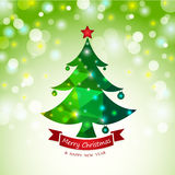 Christmas tree abstract card background Royalty Free Stock Photo