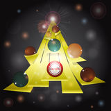 Christmas tree abstract glowing background Stock Photo