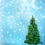 Christmas tree on abstract green  background Royalty Free Stock Images