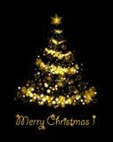 Christmas tree. Abstract green light Christmas tree Royalty Free Stock Image