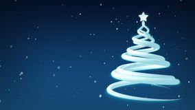 Christmas tree abstract holiday animation stock video