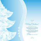 Christmas tree. Abstract Christmas tree made of frozen ice cubes.Happy New Year Card stock illustration