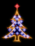 Christmas tree in abstract sparkling style Stock Photos