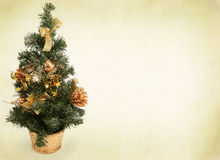 Christmas tree against abstract background Stock Images