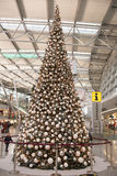 Christmas Tree at Airport Royalty Free Stock Photo