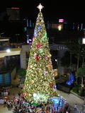Christmas tree. All decorated up for the season, here in a shopping mall in Pattaya, Thailand Royalty Free Stock Images