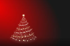 Christmas tree alone Royalty Free Stock Images