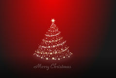 Christmas tree alone Stock Images