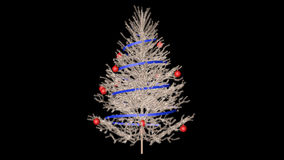 Christmas tree with alpha. Channel (Cinema 4d stock video
