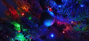 Free Christmas Tree And Decorations Stock Image - 181535551