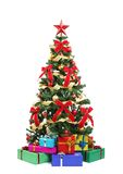 Christmas Tree And Gifts Royalty Free Stock Image