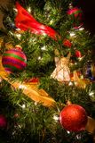 Christmas Tree with Angel 2. This is a Christmas Tree with colorful decorations Royalty Free Stock Photos