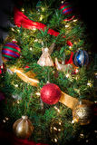 Christmas Tree with Angel 4. This is a Christmas Tree with colorful decorations Royalty Free Stock Photography