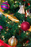 Christmas Tree with Angel 5. This is a Christmas Tree with colorful decorations Stock Images
