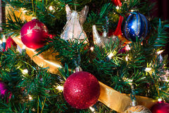Christmas Tree with Angel 6. This is a Christmas Tree with colorful decorations Stock Photos