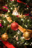 Christmas Tree with Angel 3. This is a Christmas Tree with colorful decorations Royalty Free Stock Images