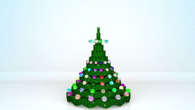 Christmas tree animation. With gifts stock video
