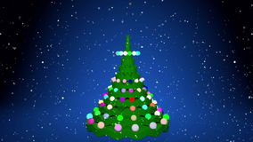 Christmas tree animation. With gifts stock footage