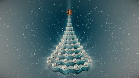 Christmas tree animation. stock footage