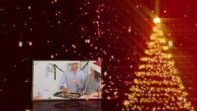Christmas tree animation Royalty Free Stock Image