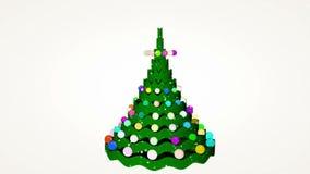 Christmas tree animation stock video