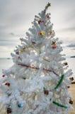 Christmas tree, Ao Nang beach, Thailand. Ao Nang beach, Thailand - December 22, 2012: Christmas tree in front of Ao Nang beach in Krabi Province, southern Royalty Free Stock Photography