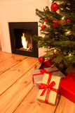 Christmas tree in apartment Stock Image